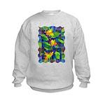 Leaf Mosaic Kids Sweatshirt
