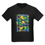 Leaf Mosaic Kids Dark T-Shirt