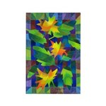 Leaf Mosaic Rectangle Magnet