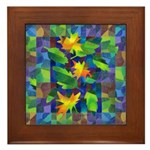 Leaf Mosaic Framed Tile