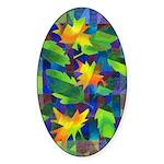 Leaf Mosaic Oval Sticker