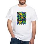 Leaf Mosaic White T-Shirt