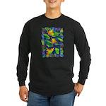 Leaf Mosaic Long Sleeve Dark T-Shirt
