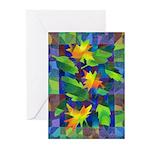 Leaf Mosaic Greeting Cards (Pk of 10)