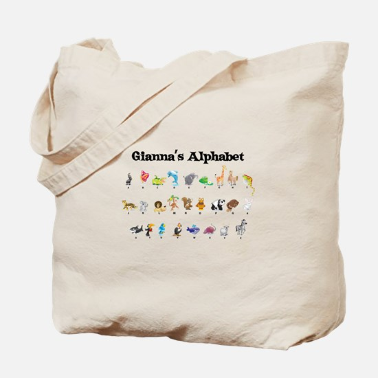 Gianna's Animal Alphabet Tote Bag