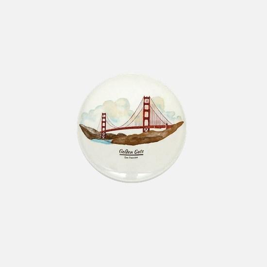 San Francisco Golden Gate Bridge Mini Button