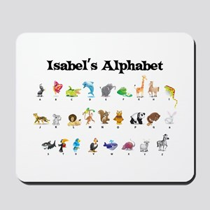 Isabel's Animal Alphabet Mousepad