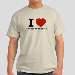 i love Massachusetts Light T-Shirt