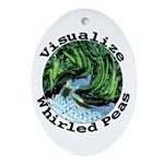 Visualize Whirled Peas Ornament (Oval)