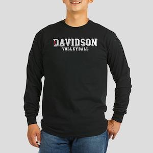 Davidson Volleyball Long Sleeve Dark T-Shirt