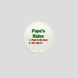 Italian Papa's Rules Mini Button