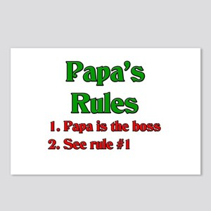 Italian Papa's Rules Postcards (Package of 8)