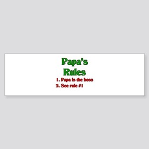Italian Papa's Rules Bumper Sticker