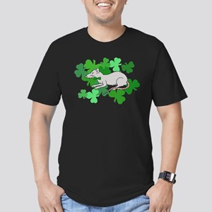 St. Patrick's Day Rat Men's Fitted T-Shirt (dark)