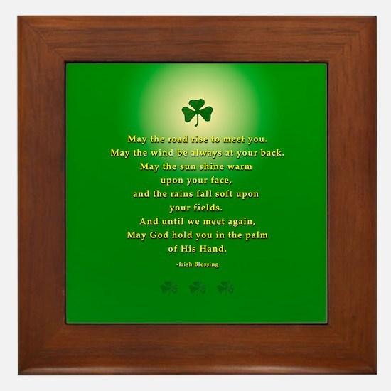 Irish Blessing-21 Framed Tile