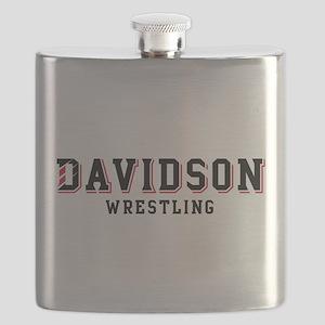 Davidson Wrestling Flask