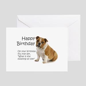 Bulldog Birthday Cards Greeting Cards