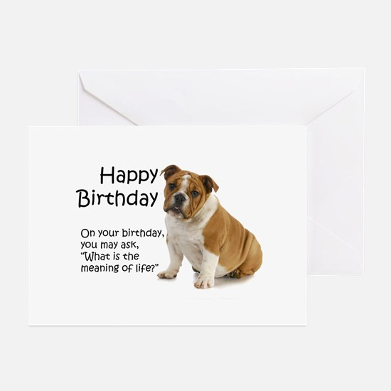 Bulldog Birthday Cards Greeting Cards