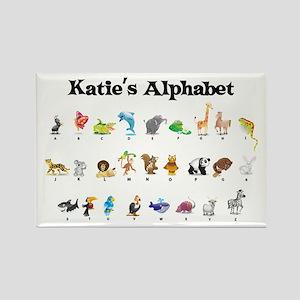 Katie's Animal Alphabet Rectangle Magnet