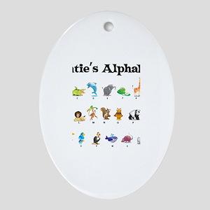 Katie's Animal Alphabet Oval Ornament