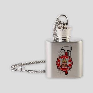 RED LIVES MATTER Flask Necklace