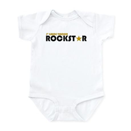 1st Grade Teacher Rockstar 2 Infant Bodysuit