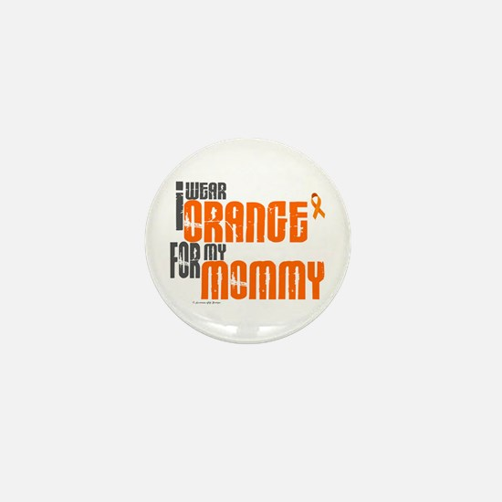I Wear Orange For My Mommy 6 Mini Button (10 pack)