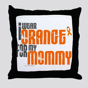 I Wear Orange For My Mommy 6 Throw Pillow