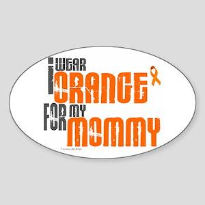 I Wear Orange For My Mommy 6 Oval Sticker
