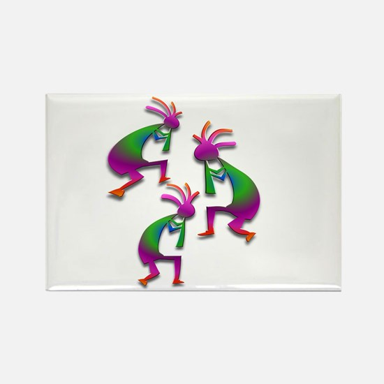 Three Kokopelli #100 Rectangle Magnet (10 pack)