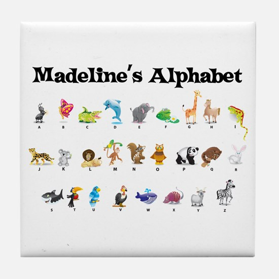 Madeline's Animal Alphabet Tile Coaster