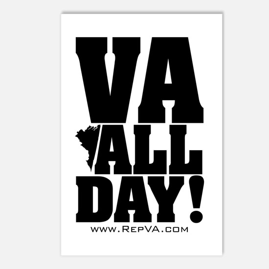 VA ALL DAY Postcards (Package of 8)