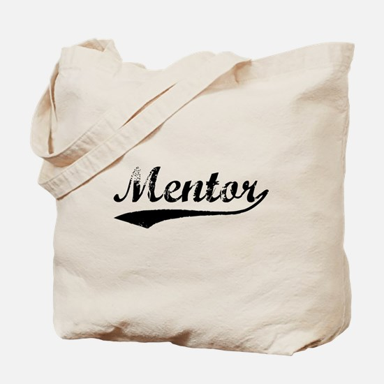 Vintage Mentor (Black) Tote Bag