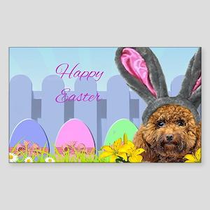 Easter Poodle dog Sticker