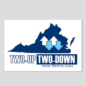 VA 2 up 2 down Postcards (Package of 8)
