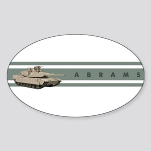 Abrams Oval Sticker