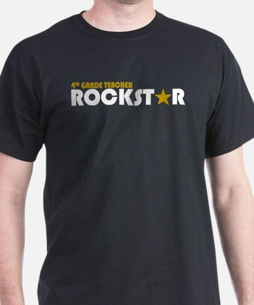 4th Grade Teacher Rockstar 2 T-Shirt