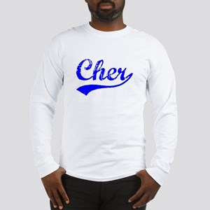 Vintage Cher (Blue) Long Sleeve T-Shirt