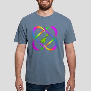 Fun Dinosaur in Linking Hearts T-Shirt