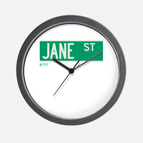 Jane Street in NY Wall Clock