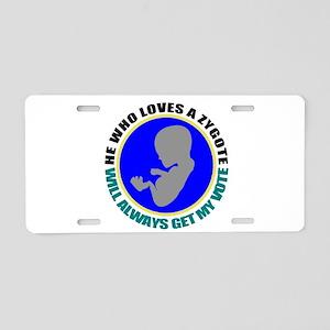 political Aluminum License Plate