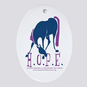 Oval HOPE Ornament