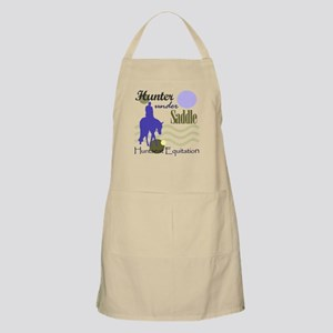Hunter in periwinkle BBQ Apron