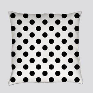Black and White Polka Dots Everyday Pillow