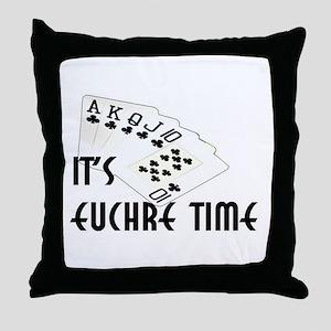 Euchre Time Throw Pillow