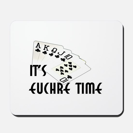 Euchre Time Mousepad