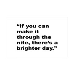 Rap Culture Brighter Day Quote Posters