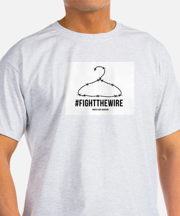 Fight The Wire - White T-Shirt
