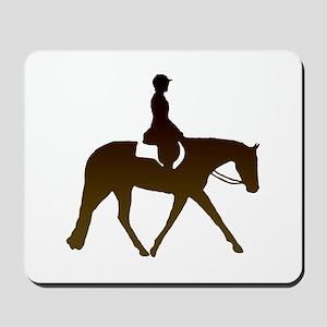 Hunter horse in brown Mousepad