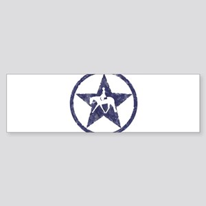 Texas star english horse Bumper Sticker